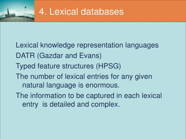 4. Lexical databases