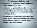 o universo da internet