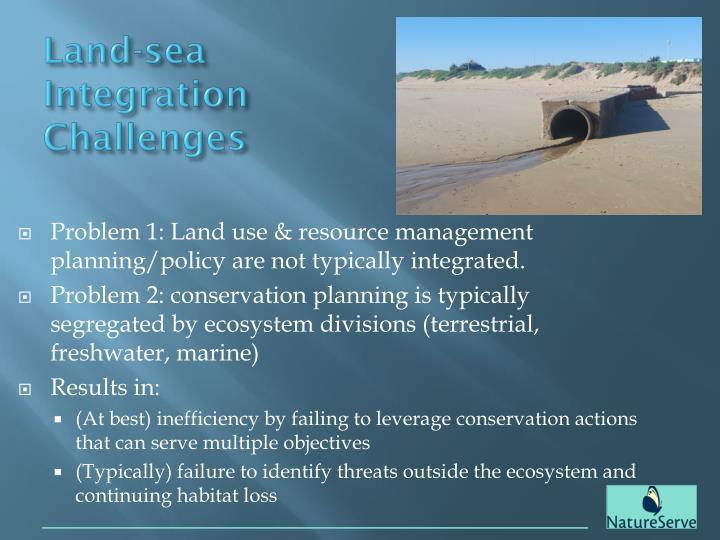 Land-sea Integration Challenges
