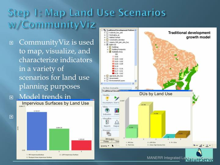 Step 1: Map Land Use Scenarios w/CommunityViz