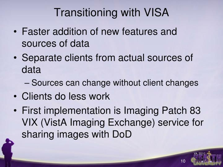 Transitioning with VISA