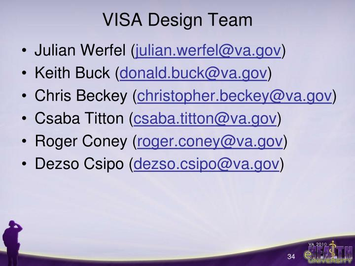 VISA Design Team