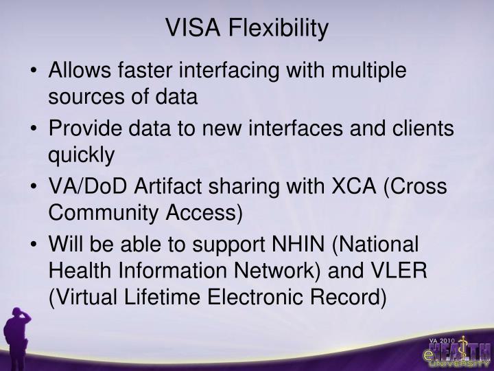 VISA Flexibility