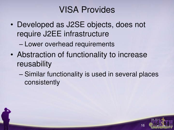 VISA Provides