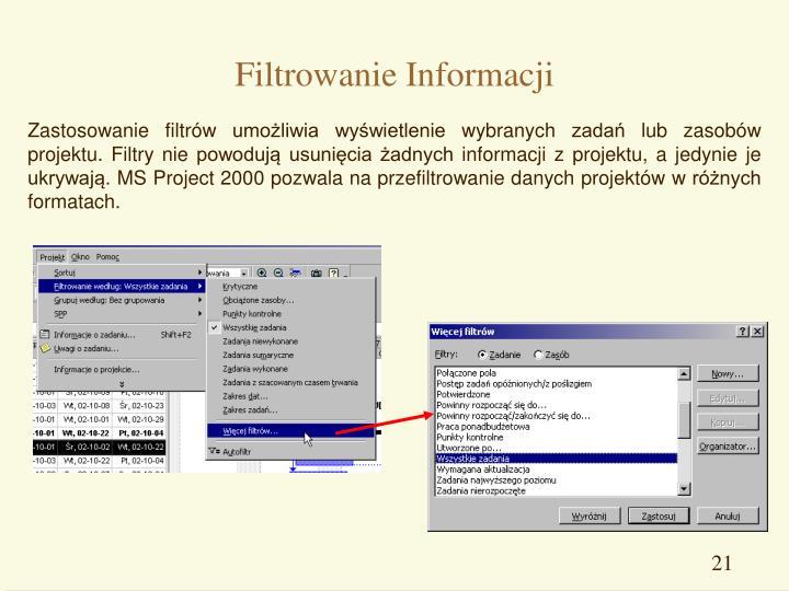 Filtrowanie Informacji