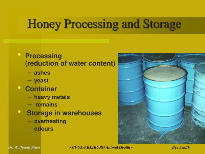 Honey Processing and Storage
