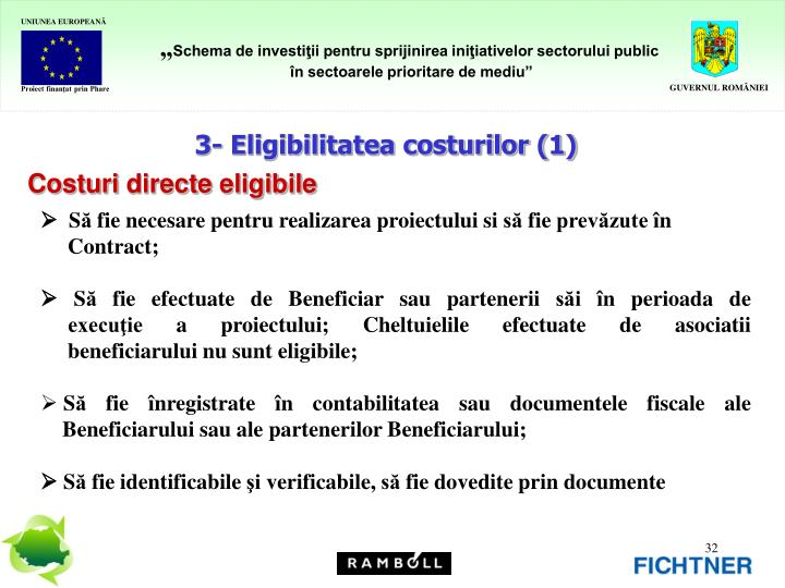 3- Eligibilitatea costurilor (1)
