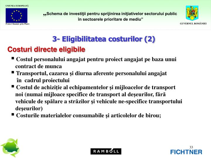 3- Eligibilitatea costurilor (2)