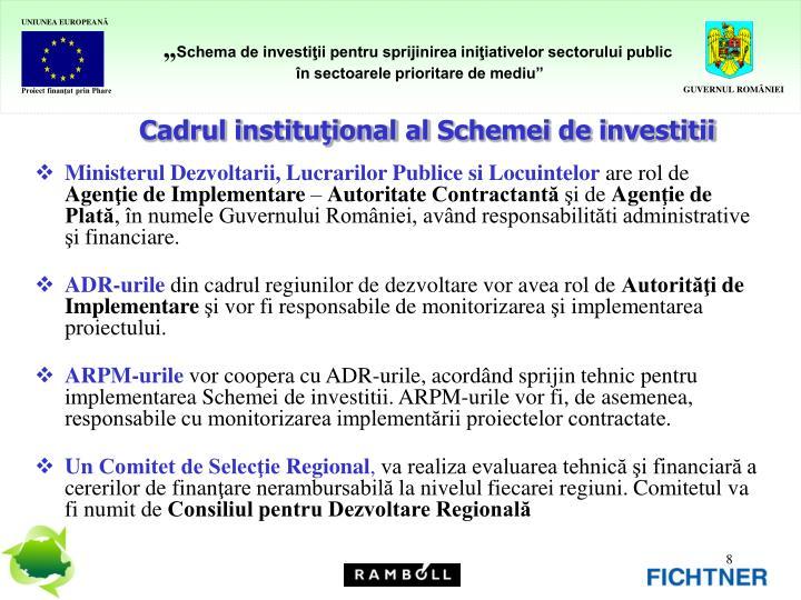 Cadrul instituţional