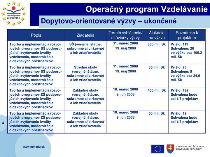 Operačný program Vzdelávanie