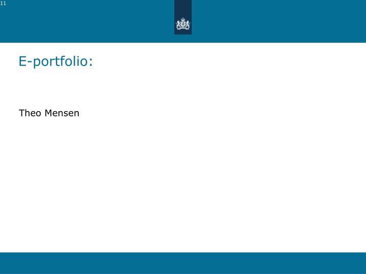 E-portfolio: