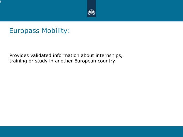 Europass Mobility: