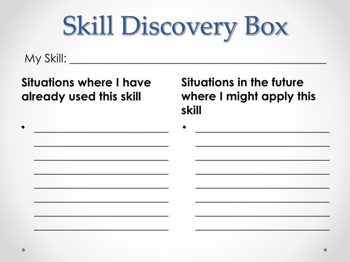 Skill Discovery Box