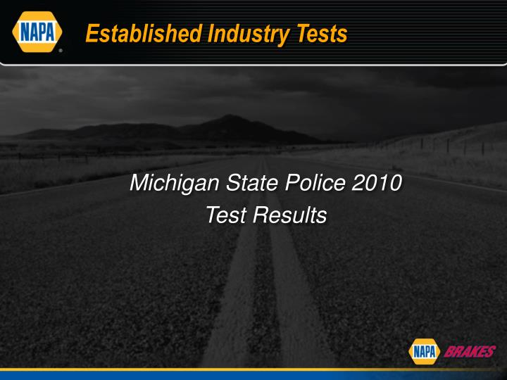 Established Industry Tests