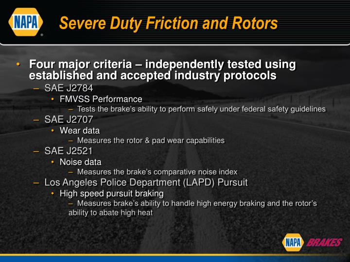 Severe Duty Friction and Rotors