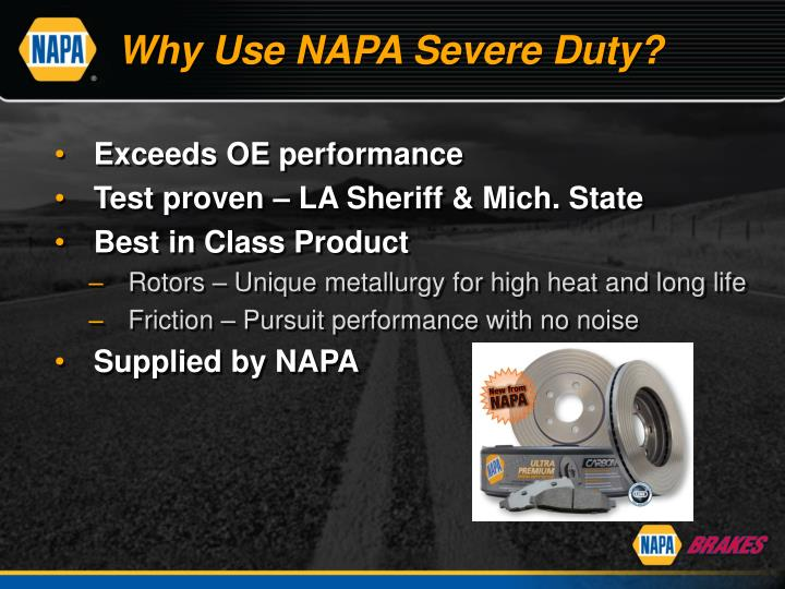 Why Use NAPA Severe Duty?
