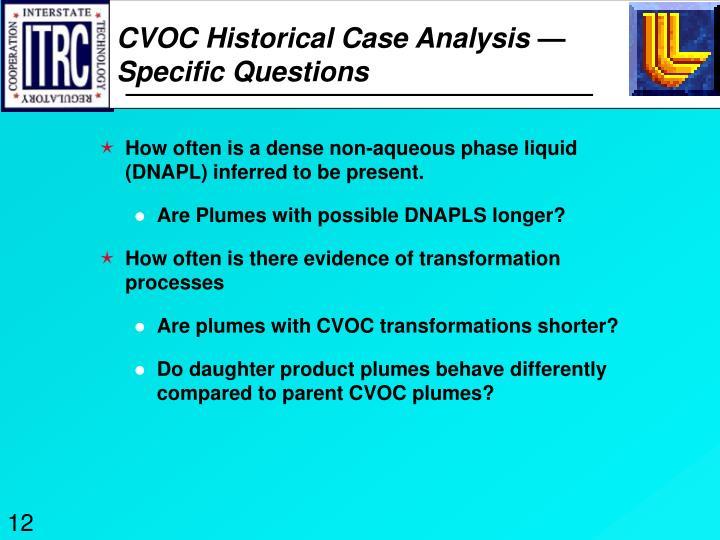 CVOC Historical Case Analysis