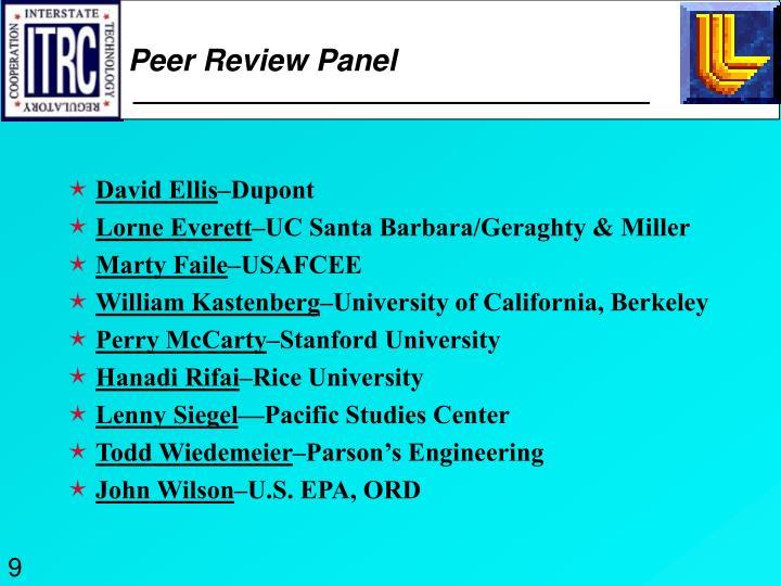 Peer Review Panel