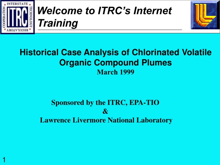 Welcome to itrc s internet training