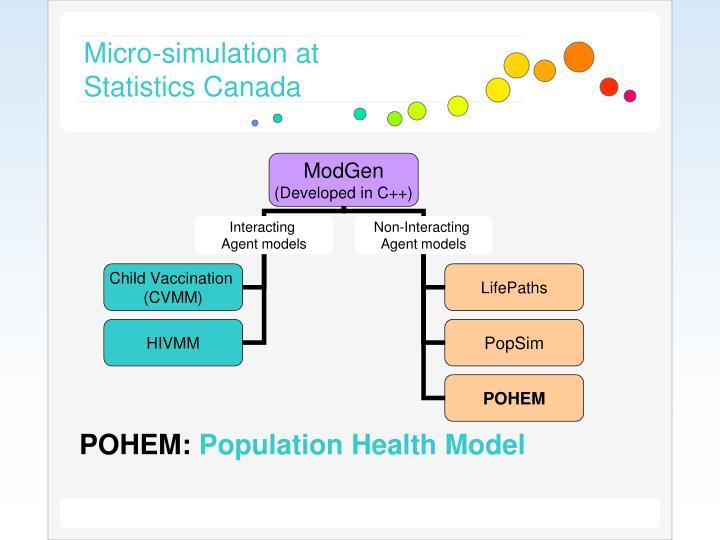 Micro-simulation at Statistics Canada