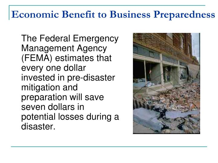 Economic Benefit to Business Preparedness