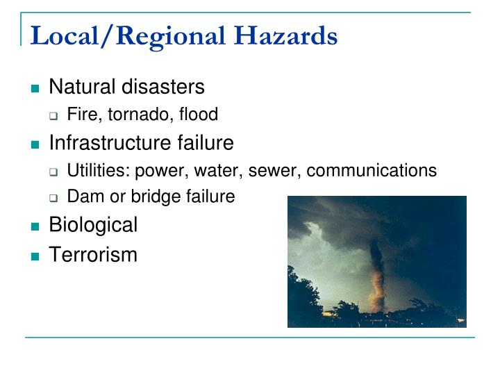 Local/Regional Hazards