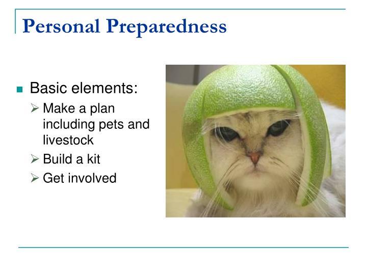 Personal Preparedness