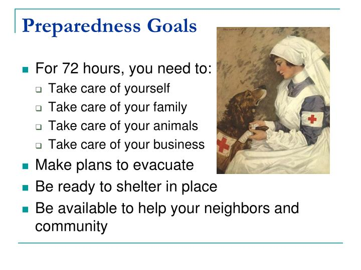Preparedness Goals