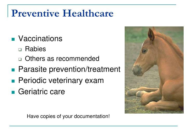 Preventive Healthcare