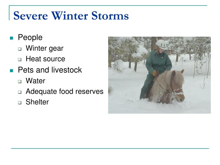 Severe Winter Storms