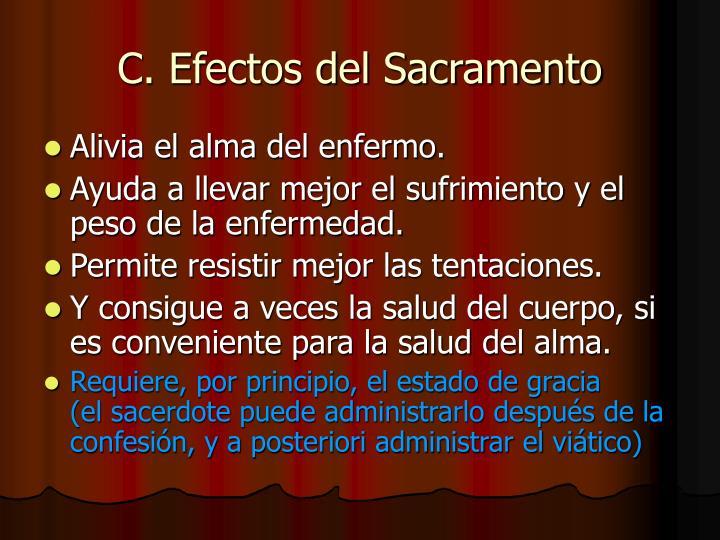 C. Efectos del Sacramento