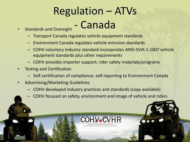 Regulation – ATVs