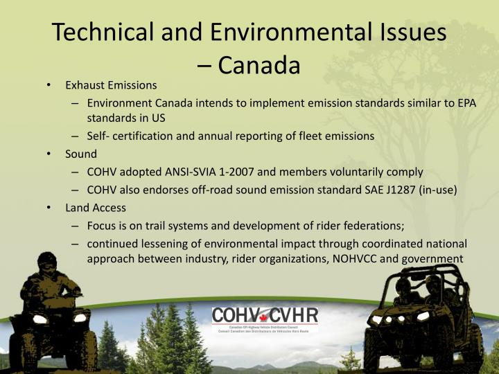 Technical and environmental issues canada