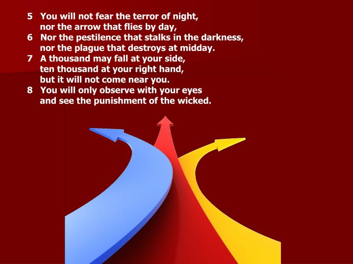You will not fear the terror of night,