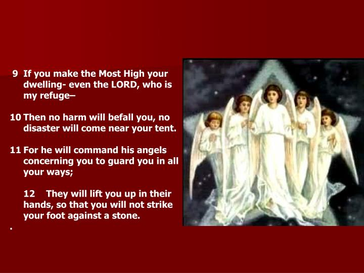 9If you make the Most High your dwelling- even the LORD, who is my refuge–
