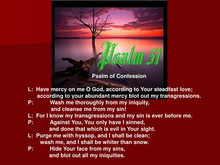 Psalm of Confession