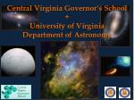 central virginia governor s school university of virginia department of astronomy