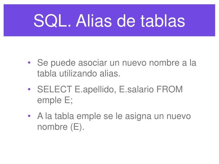 SQL. Alias de tablas