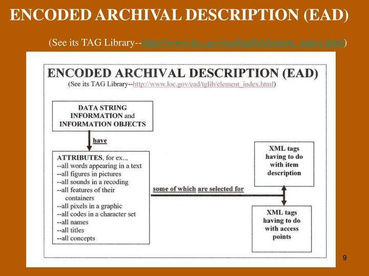 ENCODED ARCHIVAL DESCRIPTION (EAD)