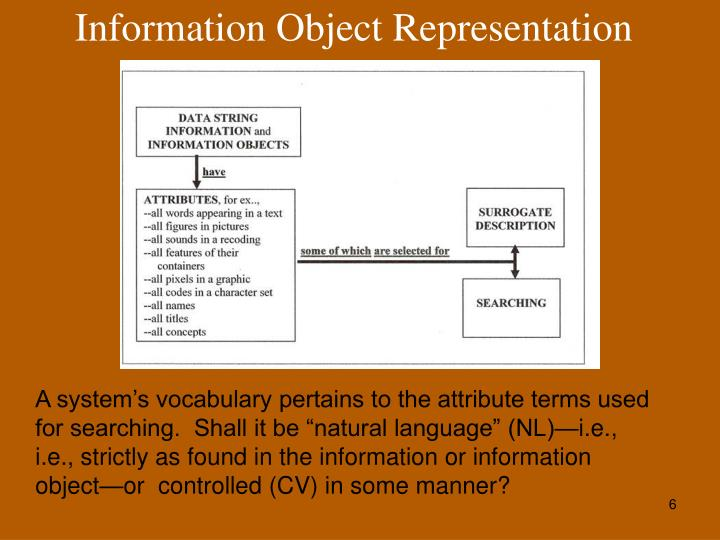 Information Object Representation