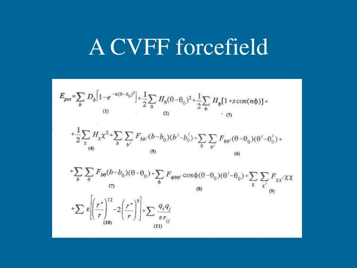 A CVFF forcefield