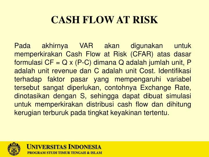 CASH FLOW AT RISK