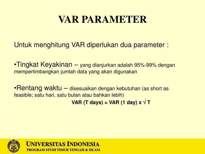 VAR PARAMETER