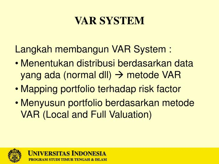 VAR SYSTEM