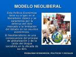 modelo neoliberal