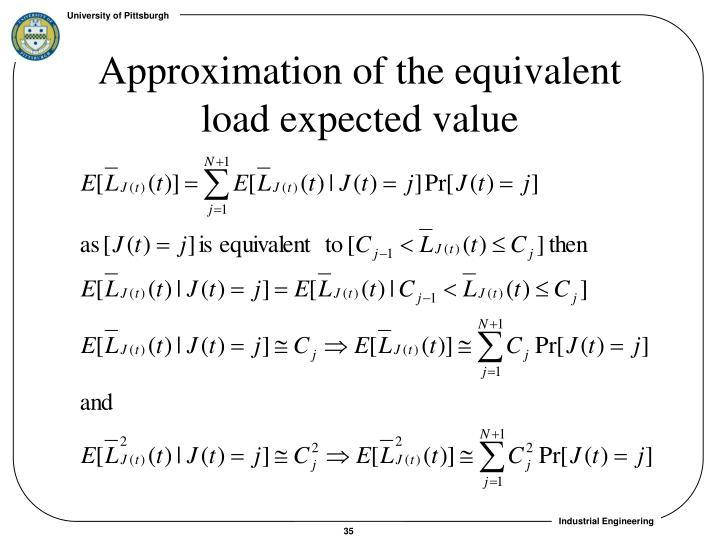 Approximation of the equivalent load expected value