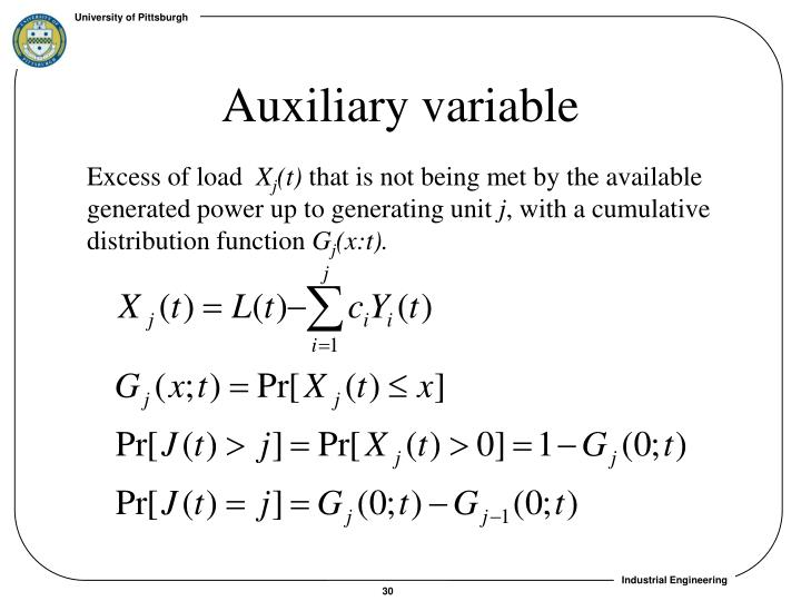 Auxiliary variable