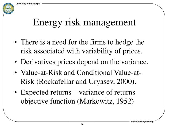 Energy risk management