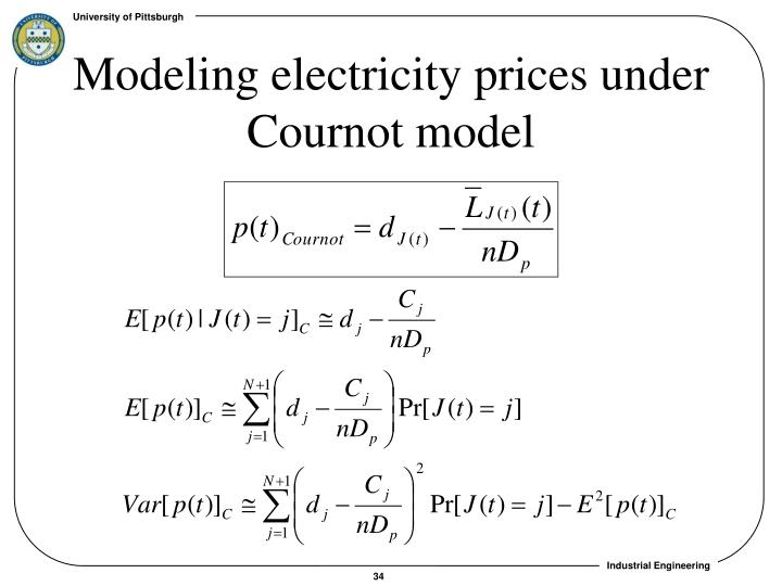 Modeling electricity prices under Cournot model