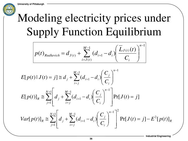 Modeling electricity prices under Supply Function Equilibrium